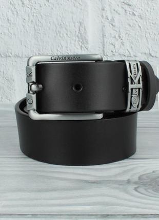 Кожаный ремень под джинсы 8208-403 черный, 40 мм