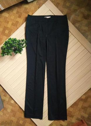 Чёрные брюки штаны атласные mango moments ☕ 48р