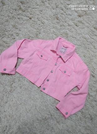 """Мила рожева укорочена куртка """"denim""""!"""