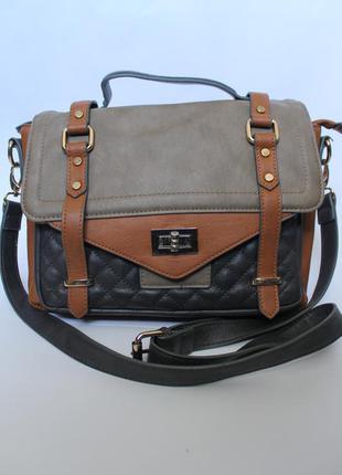 Стильная сумка через плечо в стиле чемодан