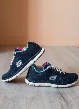 Кроссовки для спорта синие 39 размер, skechers для зала