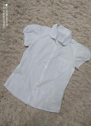 """Біла блузка з рукавом """"фонарик""""!"""