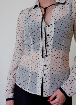Полу-прозрачная легкая блузка ostin