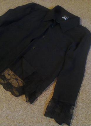 Шикарная блуза с французким кружевом