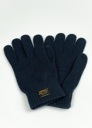 Перчатки carhartt wip military gloves navy