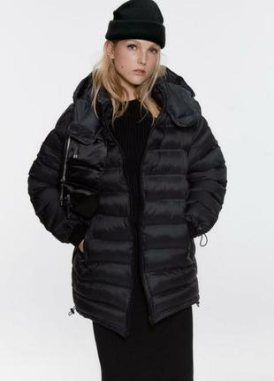 Удлиненная стёганая куртка zara