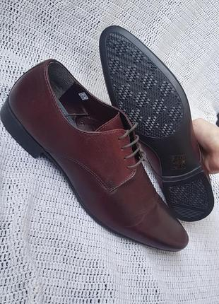 Новые кожаные туфли river island, оригинал 41,5 42 размер 27,5 см туфлі