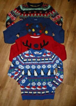 F&f новогодний свитер на 9-10 лет (