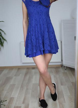 Гипюровое платье с высокой посадкой-талией,р.s-m