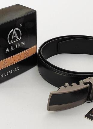 Мужской кожаный ремень alon + коробка