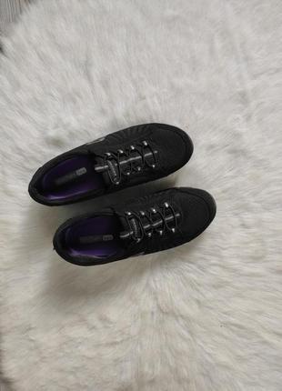 Черные кроссовки кеды со шнуровкой легкие skechers flex скечерс