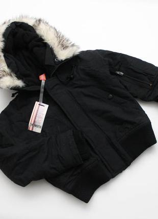 Тепла, черная курточка на мальчика teddy's friend