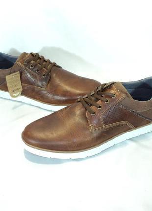 """Кожаные португальские фирменные ботинки от """"bullboxer"""", р 44"""