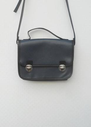 Сумка портфель через плечо из кожзама