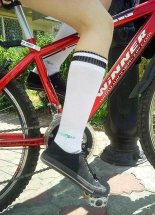 Спортивные высокие носки гетры гольфы clover'sox р.36-40