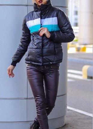 Крутая женская куртка плащевка+синтепон 200 весна/осень/теплая зима 42-46рр 2шт.