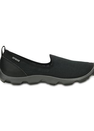 Crocs black & graphite duet busy day slip-on sneaker