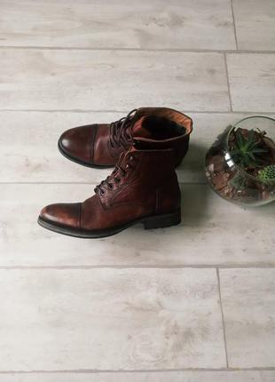 Кожаные туфли ботинки броги tommy hilfiger