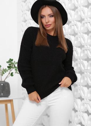 Стильный свитер крупная вязка