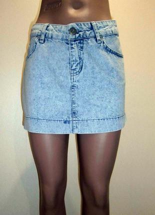 Джинсовая юбка e-vie размер m l шикарное состояние