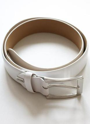 Кожаный, белый ремень lloyd (германия)
