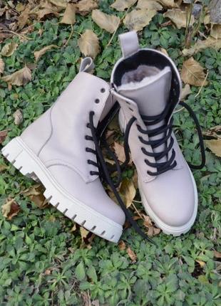 Ботинки демисезонные, осенние, зимние, кожаные, женские, 36-41р