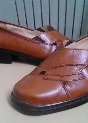 Gabor. 39 p. кожаные летние туфли.