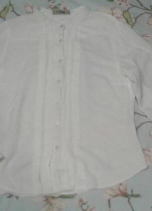 Белая блуза воротничек стойка