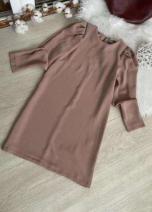 Красивое платье пыльной розы от h&m