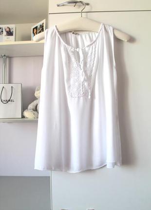 Итальянская белоснежная натуральная мягенькая  блуза от today