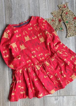 Платье с оленями f&f 12-18