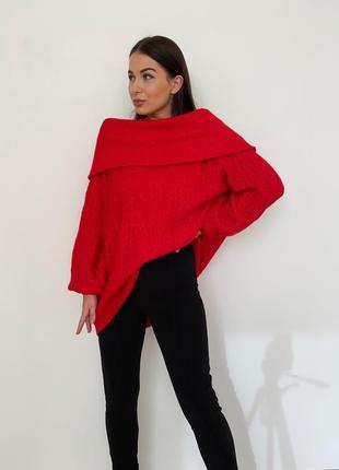 Классный свитер с открытыми плечами h&m