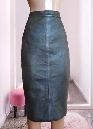 На вторую вещь скидка -50% ♥ юбка кожаная карандаш италия