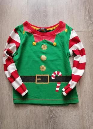 Новогодний реглан кофта свитер