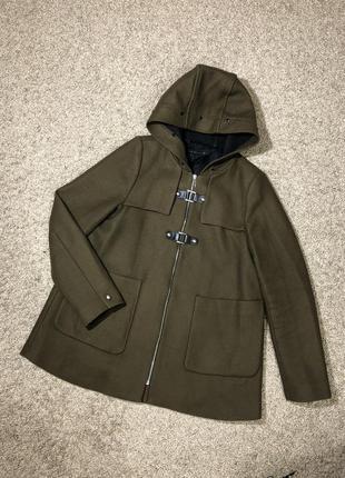 Пальто панчо шерстяное с капюшоном м 38 48