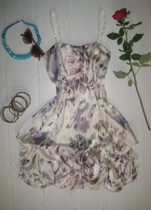 Шикарное атласное мини платье от дженифер тейлор атлас