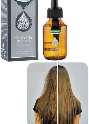 Кератиновое масло для сухих и повреждённых волос 100 мл