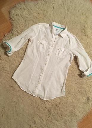 Белая летняя рубашка american eagle размер s xs