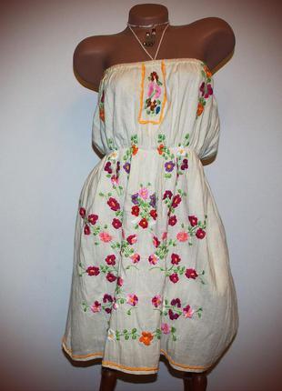 Платье сарафан супер стильное, марлевка шитье, индия,  снижение цен, смотрите!