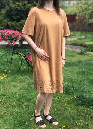 Платье замшевое прямое primark p.20