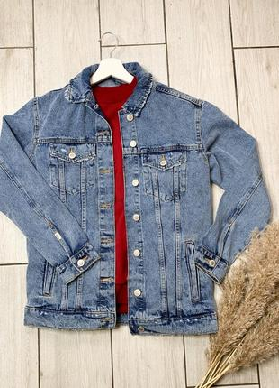 Джинсова куртка / джинсовая куртка xs s bershka