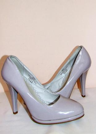 "Лакированные туфли ""fiore"" модного цвета nude, размер 39.5"