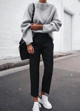 🌿 классические, черные брюки со стрелками от asos