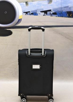 Ультра легкий тканевый чемодан 100% ручная кладь на 4-х кол. airtex 6522,оригинал2 фото