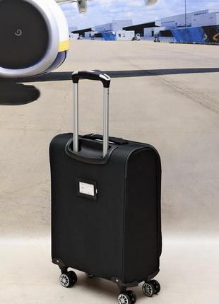 Ультра легкий тканевый чемодан 100% ручная кладь на 4-х кол. airtex 6522,оригинал8 фото