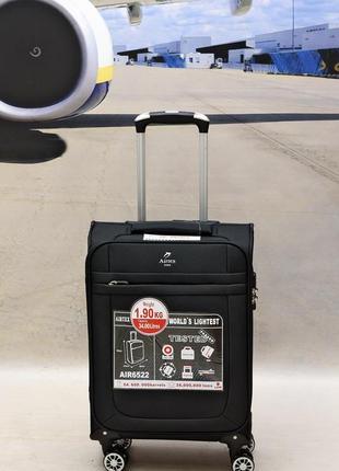 Ультра легкий тканевый чемодан 100% ручная кладь на 4-х кол. airtex 6522,оригинал3 фото