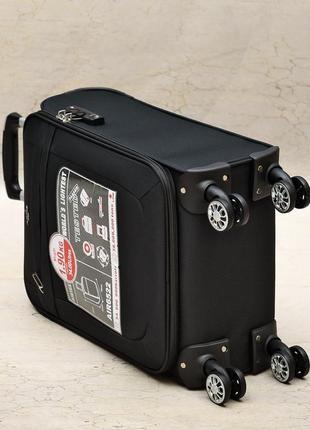Ультра легкий тканевый чемодан 100% ручная кладь на 4-х кол. airtex 6522,оригинал5 фото