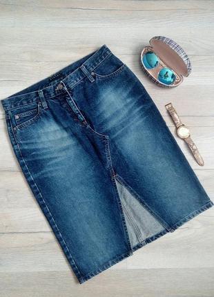 Італійська джинсова спідниця карандаш, юбка-карандаш