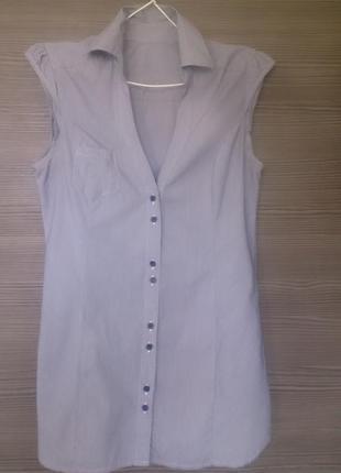 Рубашка в полоску без рукавов h&m