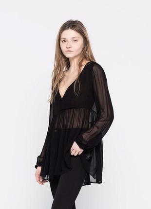 Блуза pull&bear черный, s